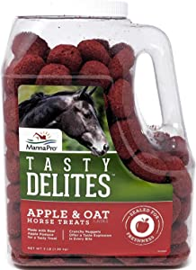 Manna Pro Tasty Delites Horse Treats, 3 Pounds, Crunchy Nuggets Made with Real Fruits and Vegetables