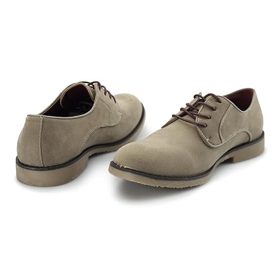 NASHVILLE Mens Faux Suede Lace Up Desert Shoes Beige: Amazon.co.uk: Shoes &  Bags