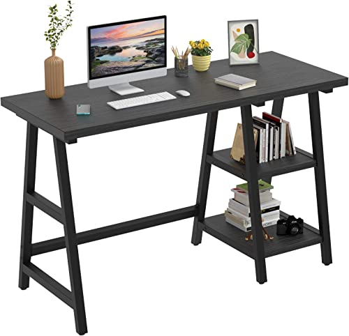 Foxemart 47 Inch Trestle Computer Desk Study Writing Home Office Desk