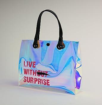 Amazon.com: Asa portátil holográfica Tpu transparente bolsas ...