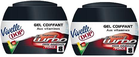 Vivelle Dop – Gel de peinado con vitaminas, fijación Turbo Force 8 para hombre,