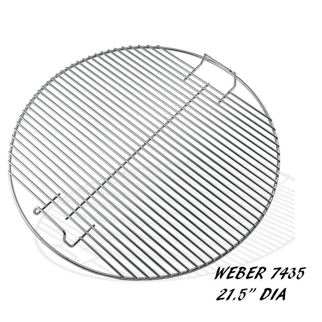 Honeybeloved Stainless Grill Cooking Grate- KG SG435 Weber Replacement 21.5'' Round BBQ New