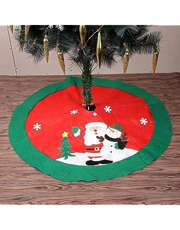 Copri Base per Albero di Natale Colore Marrone Christmas UK