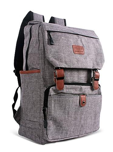 dae175c86d8e7 Keshi Leinwand Cool Schulrucksäcke Rucksack Damen Mädchen Vintage Schule  Rucksäcke mit Moderner Streifen für
