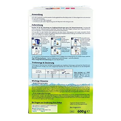 Hipp Orgánico Combiotik 3 leche de continuación - del 10 al mes, 600g: Amazon.es: Alimentación y bebidas