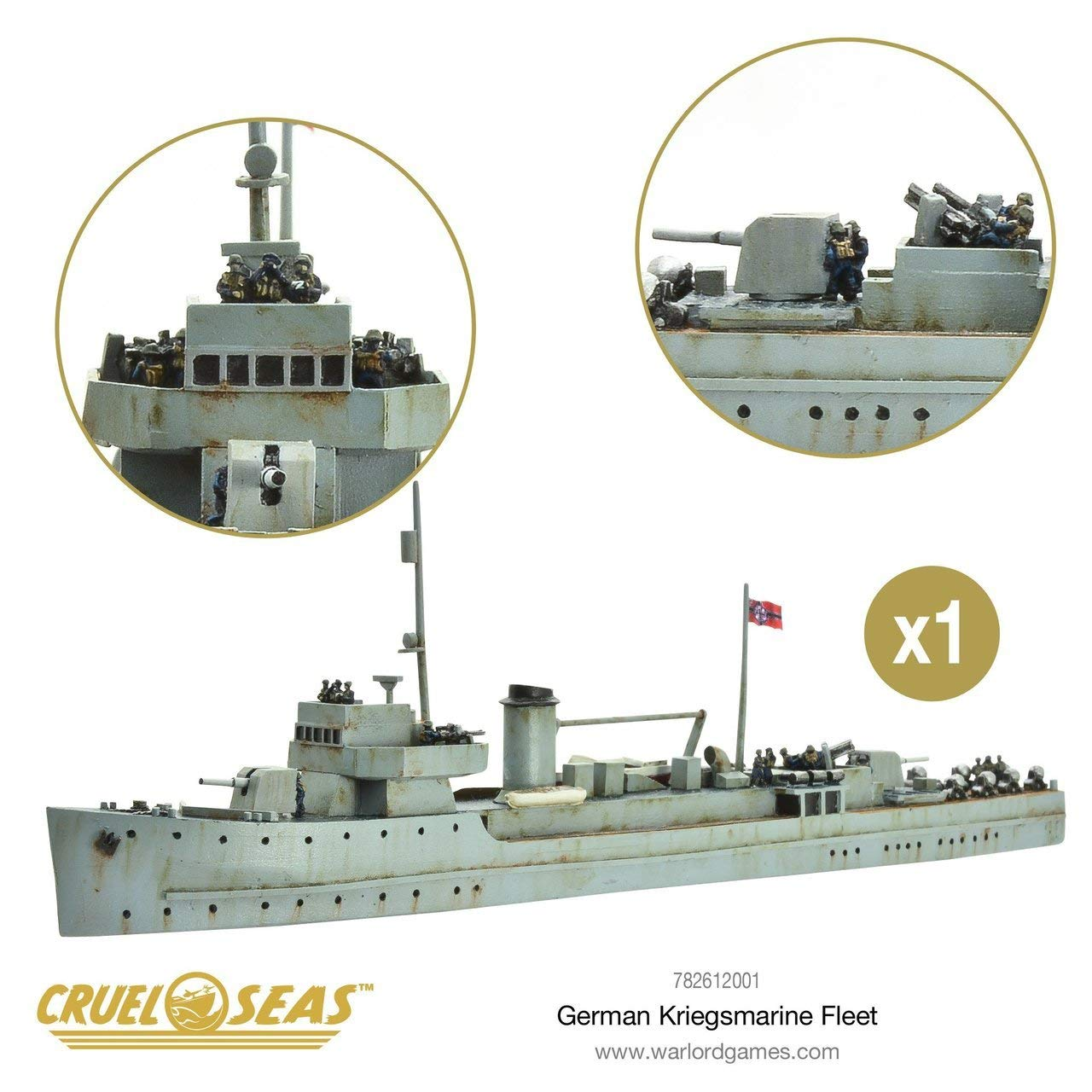 Cruel Seas German Kriegsmarine Fleet Starter Set, World War II Naval Battle Game ... by Cruel Seas (Image #6)