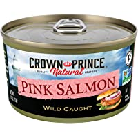 Crown Prince Natural Pink Salmon - Low in Sodium, 7.5-Ounce Cans (Pack of 12)