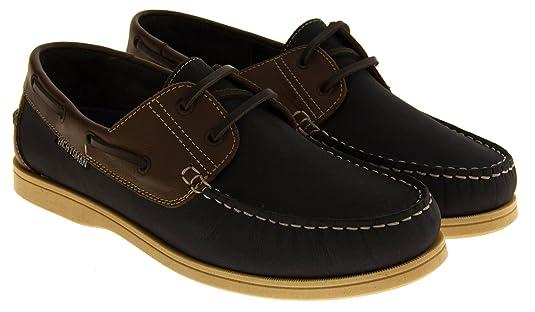 Mens Leather YACHTSMAN Smart Boat Loafers Formal Moccasin Sailing Deck Shoes wcU50Fy3