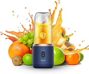 USB Electric Juicer Cup, Fruit Juice mixer, Mini Portable Rechargeable /Juicing Mixing Crush Ice Blender Mixer ,400mL(Blue)for fruit and vegetable portable