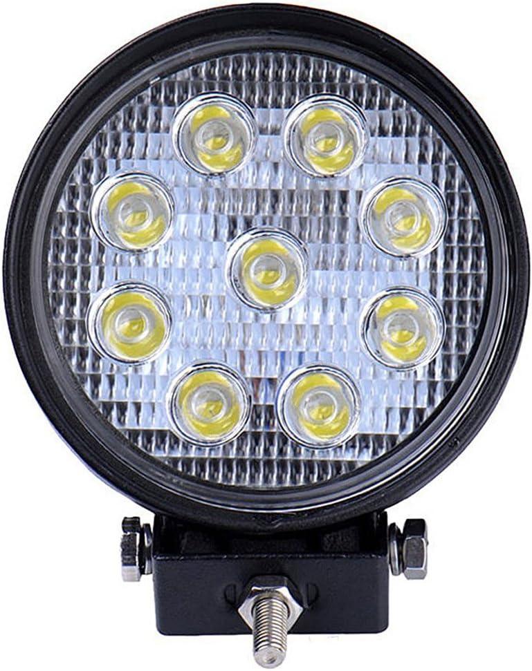 Leetop 4 LED 27W Faro Riflettore Offroad Headlights,ATV SUV,UTV di Luci//Supplementari Headlights Offroad Head,12V 24V,Proiettore di Retromarcia