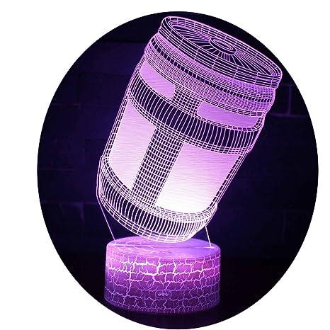 Amazon.com: Fortnite luz nocturna, lámpara de iluminación 3D ...