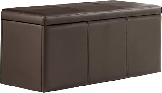Adec - Baul tapizado Universal, Medidas 90 x 40 x 40 cm, Color Chocolate: Amazon.es: Hogar