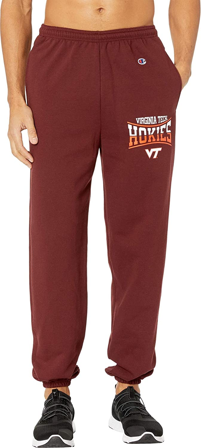 088337d6a Champion College Mens Virginia Tech Hokies Eco Powerblend Banded Pants at  Amazon Men's Clothing store: