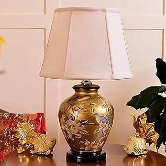 Étude Mode Nouveau Lampe Bureau Chevet Chambre Chinois Creative En Pll Céramique De Style W2YeEDI9H