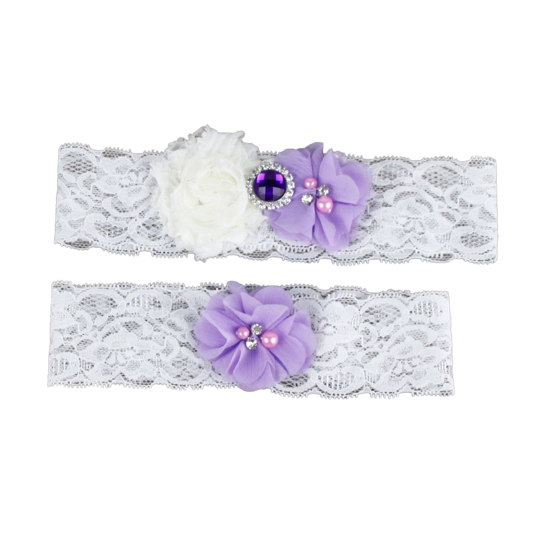 Landress ACCESSORY レディース B0798GWXKG Purple&white Purple&white