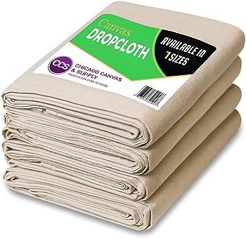 6 Piece Set - 6 x 9 Canvas Cotton 10 Oz. Drop Cloth