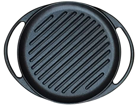 "Wees Beyond 5303-RG Round Pre-Seasoned Cast Iron Grill 10"" ..."