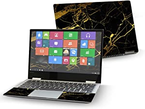 """Mightyskins Skin Compatible with Lenovo Yoga 720 13"""" (2017) - Black Gold Marble 