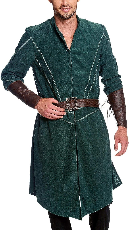 Costume Legolas Woodland Gentlemen 3 Pezzi per Fan del Signore degli Anelli Elbenwald Verde Marrone