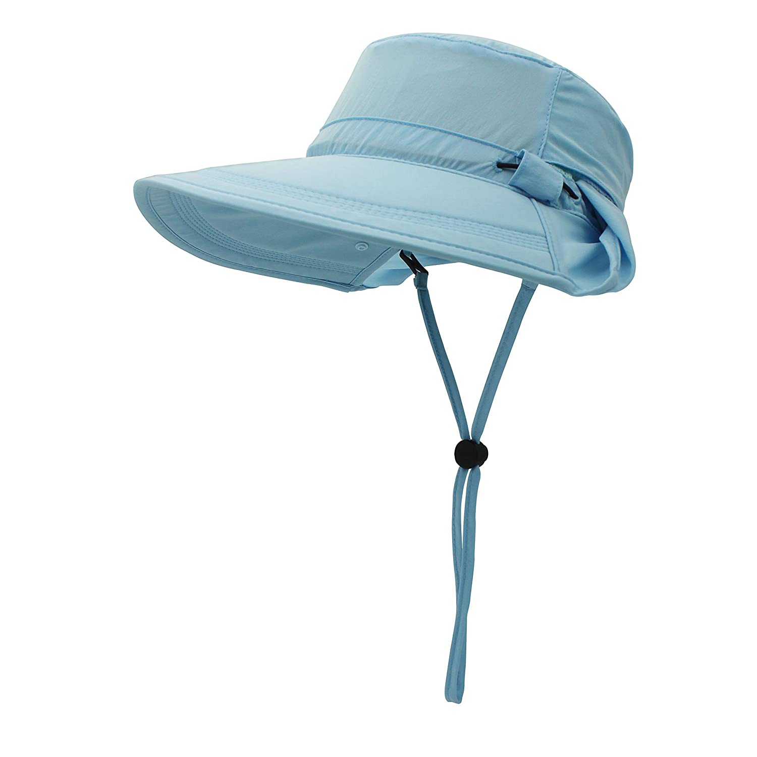 outfly Summer Sun Hat of Women Multipurpose UV Protection Beach Hat Wide Brim Bucket Hat Travelling Cap Protect Neck and Face