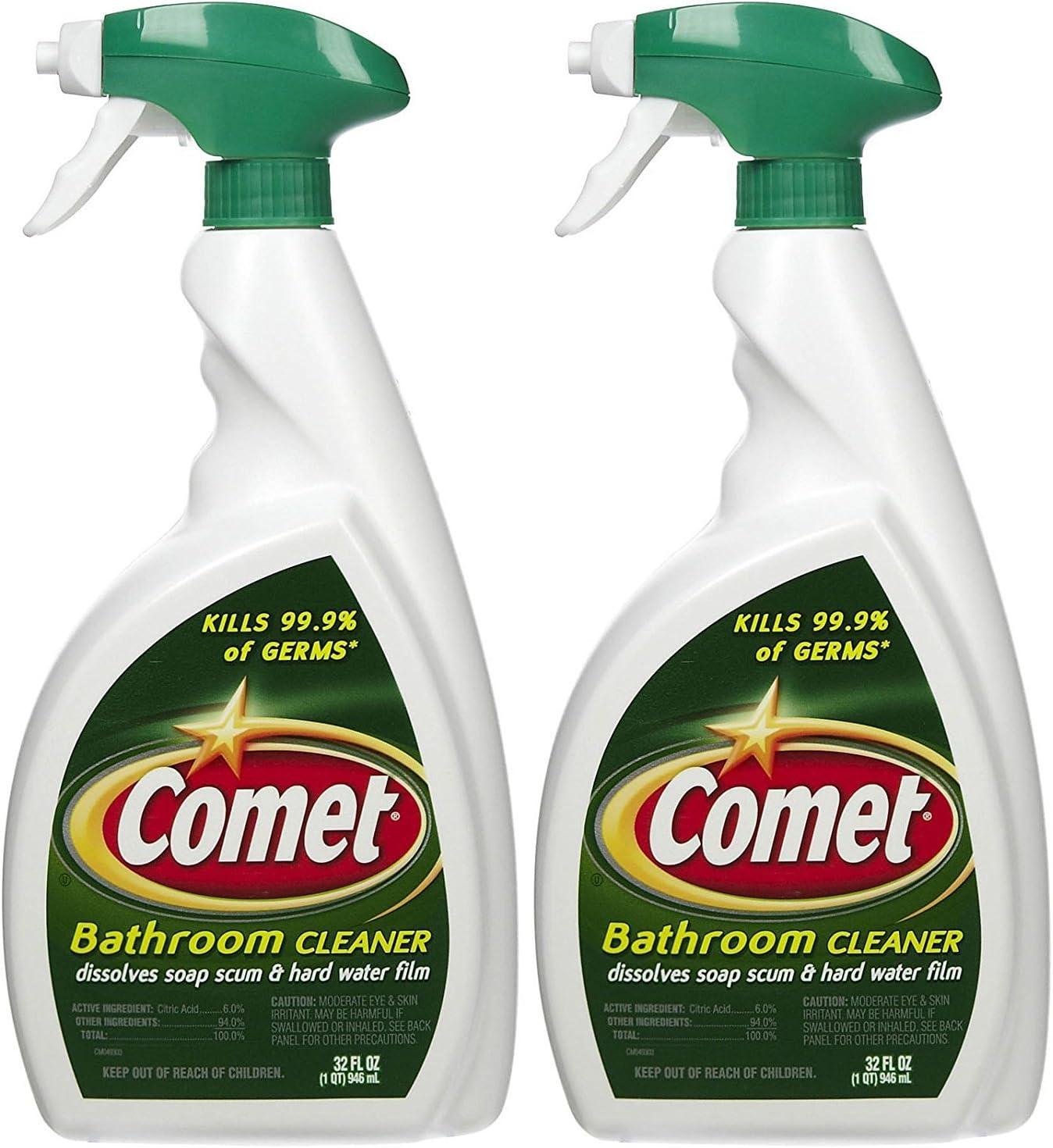 Amazon Com Comet Bathroom Cleaner Spray 32 Oz 2 Pk Health Personal Care