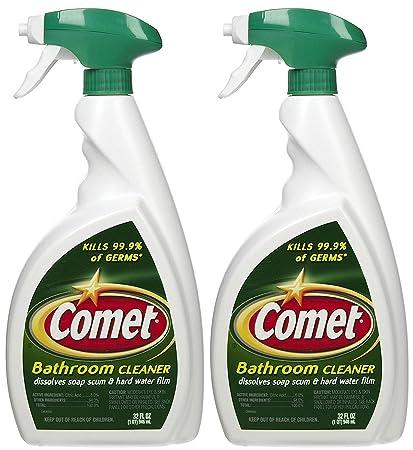 Amazoncom Comet Bathroom Cleaner Spray Oz Pk Health - Spray bathroom cleaner