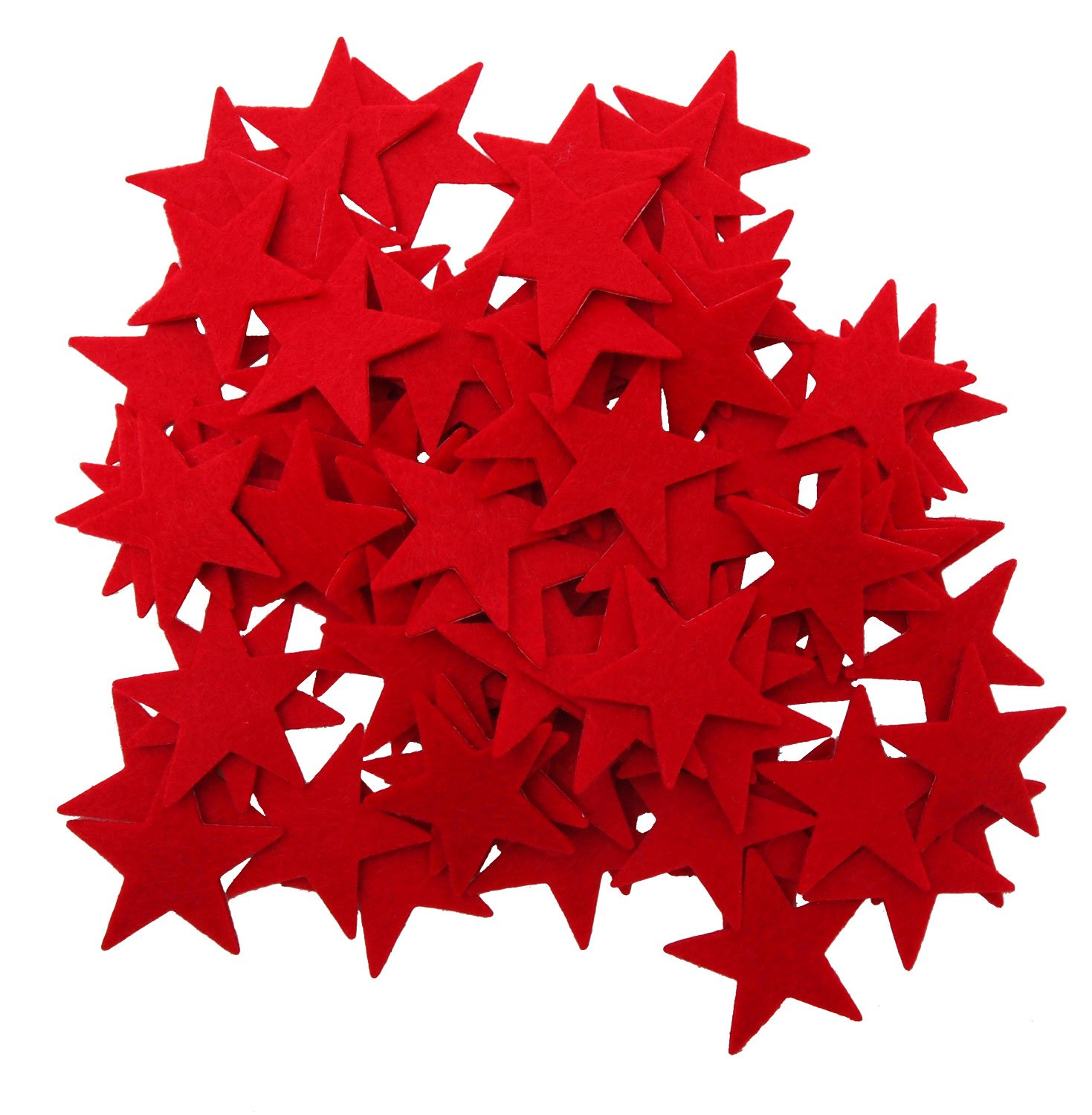 Playfully Ever After 1.5 Inch Red 85 pc Felt Star Stickers