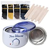 Amazon Price History for:Bluezoo Waxing Kit Electric Wax Warmer with Hard Wax Beans and Wax Applicator Sticks
