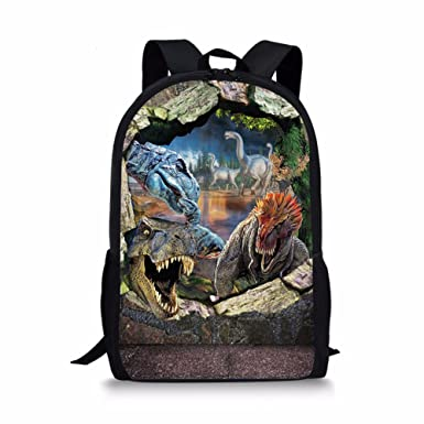 971d9c7da4 Dellukee School Backpack For Girls Cute Durable Book Bags Daypacks Dinosaur  Print