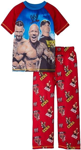 John Cena, Rock y Punk Big Boys WWE Juego de pijama, tamaños 4 –
