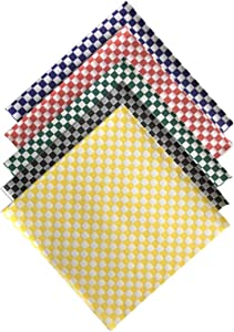 Variety Pack Check Sandwich Paper Wrap 12 x 12 inch Deli Papers Food Basket Liners Wrapping Checkered Sheets; Made in USA (Pack of 100)