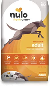 Nulo Frontrunner Dry Dog Food for Adult Dogs – Ancient Grain Inclusive Recipe - All Natural Pet Kibble with High Taurine Levels - Animal Protein for Lean Strong Muscles