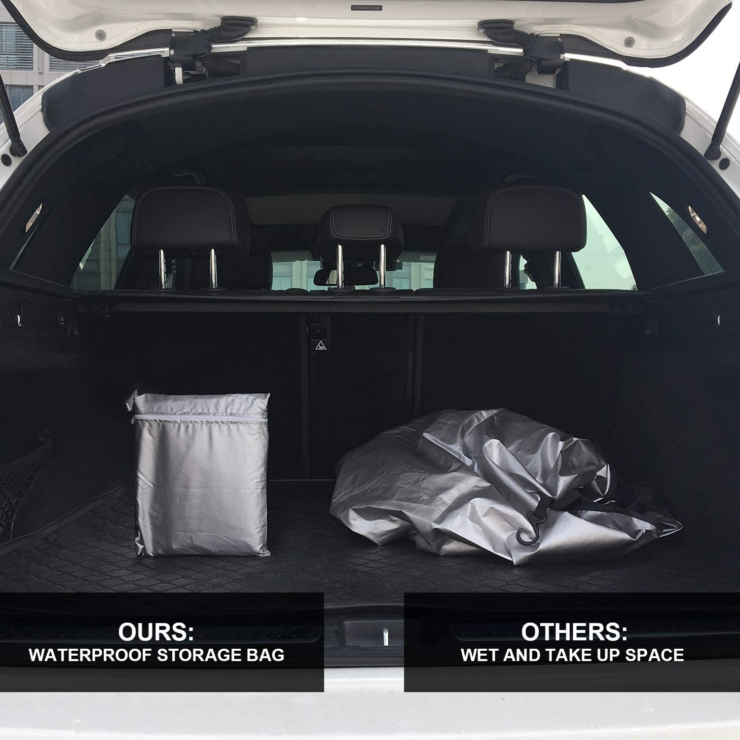 SUKCESO/Windshield/Snow/Cover./Upgraded/Waterproof/Oxford/210D/Windshield/Cover/for/Ice/Snow/with/Rear/Mirror/Covers./Fits/Most/Cars,/Trucks,/SUVs,/&nbs