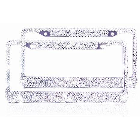 Amazon.com: ZATAYE Bling License Plate Frame for Women Girl ...