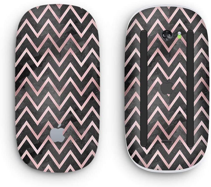 Wireless, Rechargable Design Skinz Premium Vinyl Decal for The Apple Magic Mouse 2 with Multi-Touch Surface Karamfila Marble /& Rose Gold Chevron v10