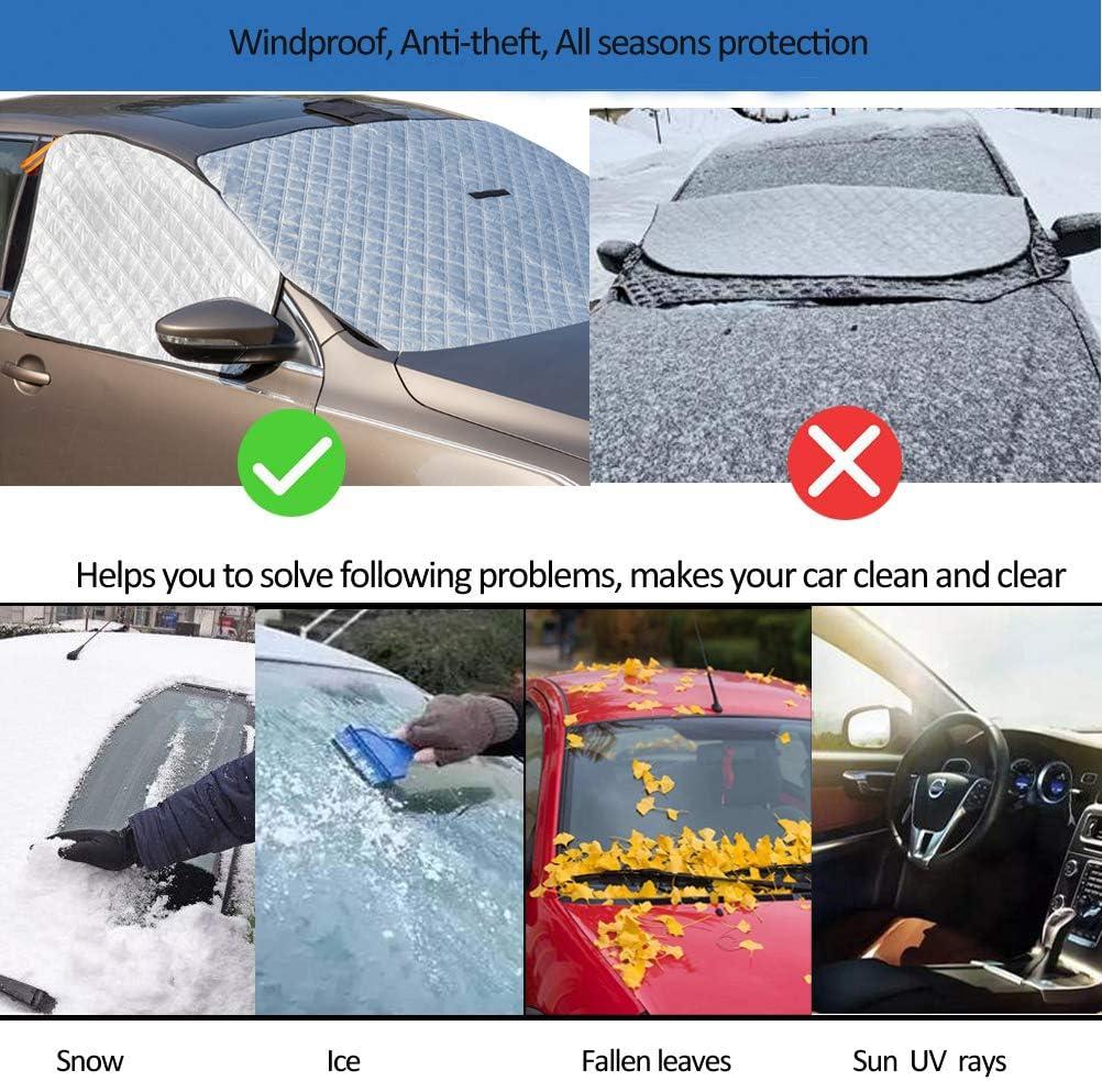 ZATOOTO Protector Parabrisas Coche Ultra Grueso Protector Solar de Parabrisas Resistente al Agua Parasol Coche Delantero