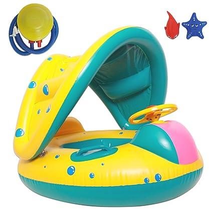 Autumn Love verdickung PVC Natación ayudas Set Baby flotador (con toldo Bomba de aire y