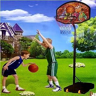Juego de Baloncesto de Baloncesto de tamaño Grande con Soporte para Pelota de Baloncesto y Gancho Ajustable