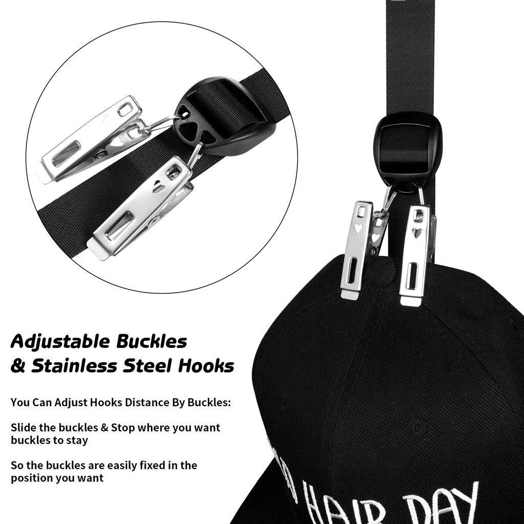 colgadores de Almacenamiento Viseras Volwco Soporte para Gorra de b/éisbol Capacidad para hasta 20 Sombreros armarios Sombreros de b/éisbol Puertas Organizador de Gorra Ajustable para Sombreros