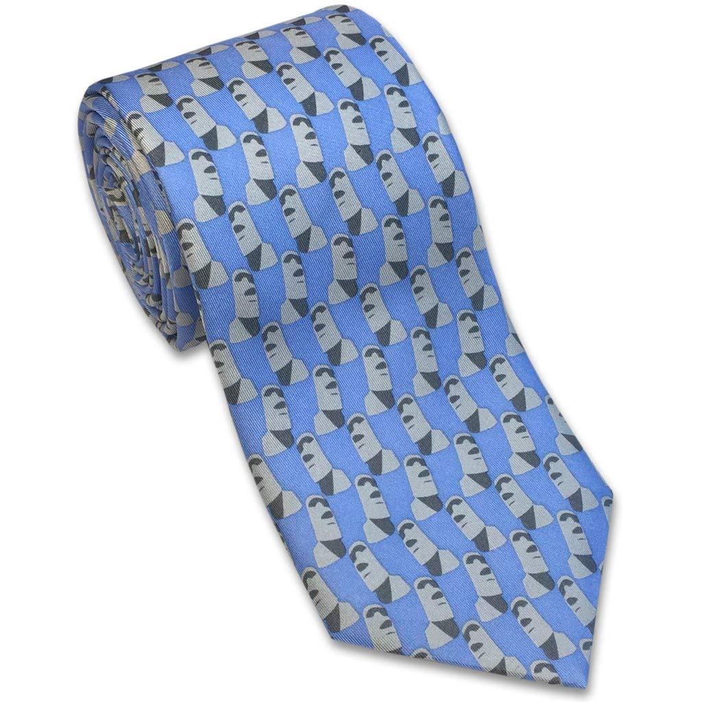 Josh Bach - Corbata de seda para hombre, diseño de isla de Pascua ...