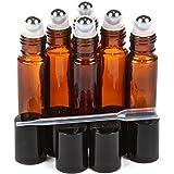 Confezione di 6 bottiglie vuote a scatto ricaricabile, 10 ml di olio essenziale per una fragranza