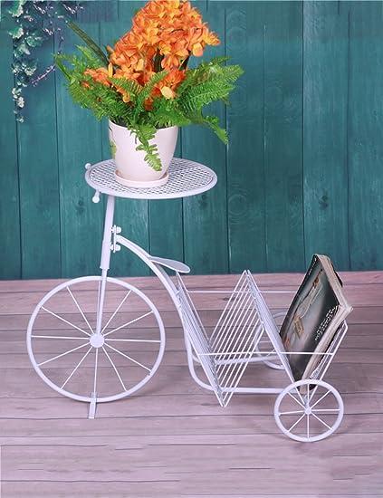Estante de flores de madera ---- Blanco estilo europeo flor de hierro cremallera