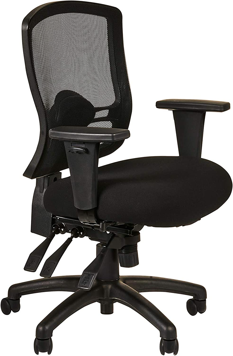 Alera Etros Series Mid-Back Multifunction with Seat Slide Chair, Black
