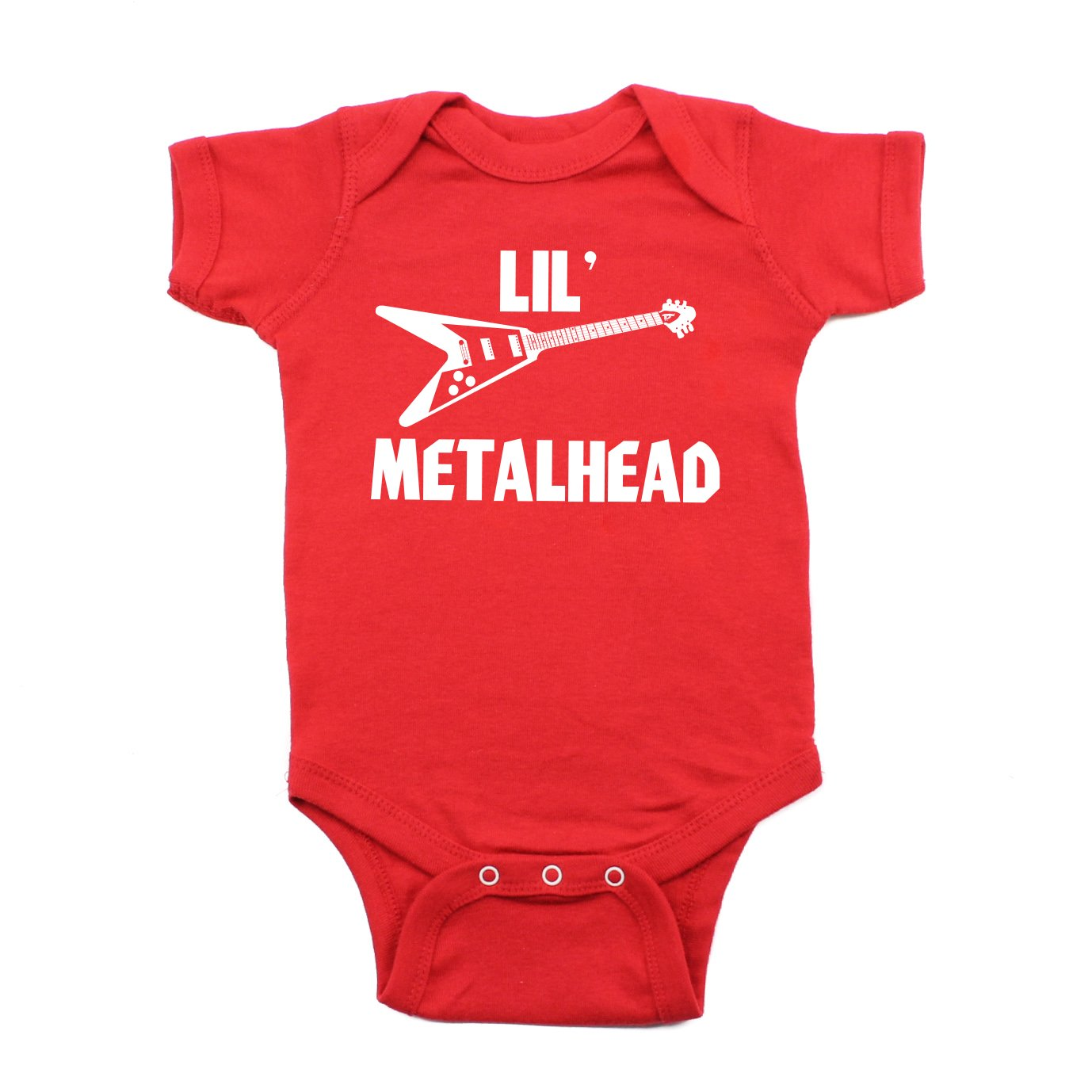 Lil' Metalhead Electric Guitar Short Sleeve Baby Infant Bodysuit Crazy Baby Clothing C8010040