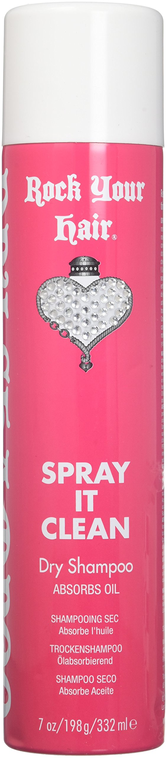 ROCK YOUR HAIR Spray It Clean Instant Dry Shampoo, 7 Ounce