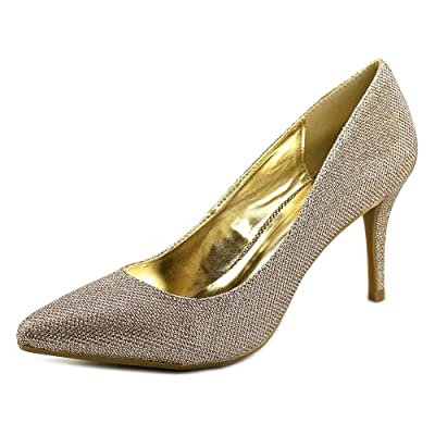 1.4.3. Girl Womens Owanda Pointed Toe Classic Pumps, Silver, Size 11