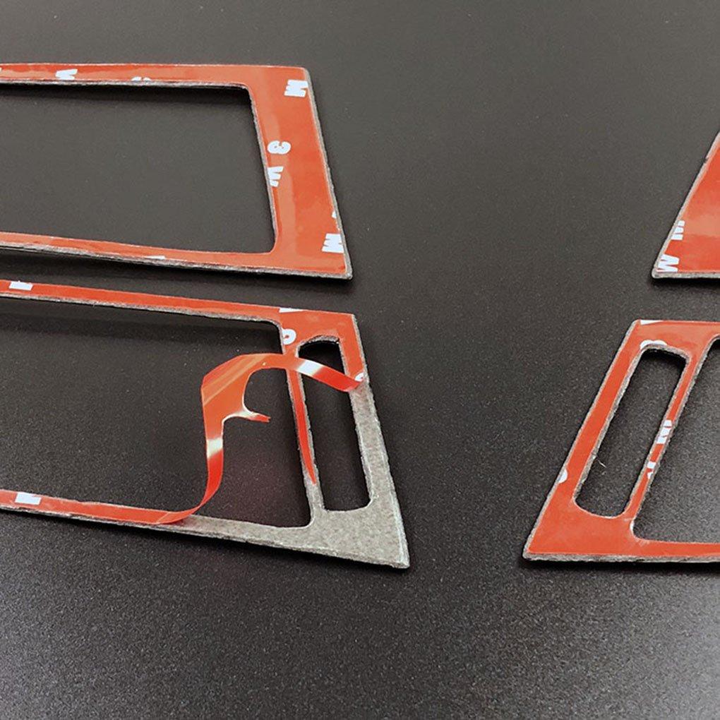 4pcs Set Side Car aria condizionata Vent Uscita copertura della fibra di carbonio Trim Decor Sticker per BMW X5 X6 E70 E71 2008-2013