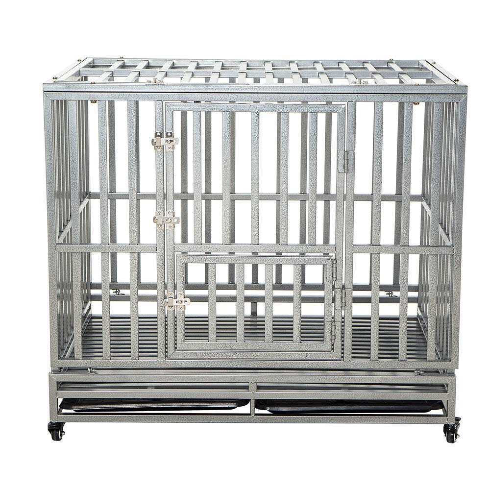 LUCKUP Indestructible Heavy Duty Dog Cage