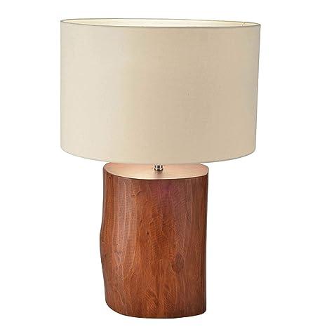 Lámpara de mesa en madera (caoba) Bauhaus blanco E27 hasta ...
