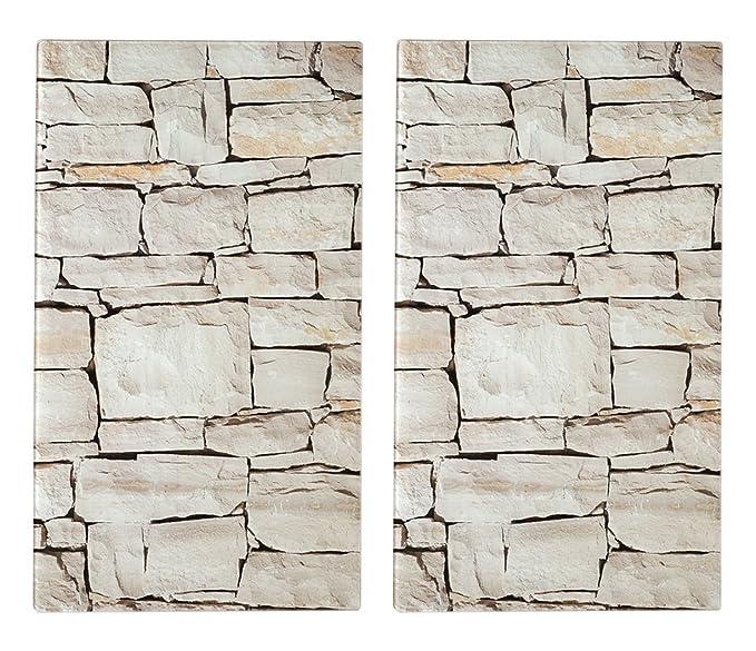 Zeller 26294 - Tabla para cortar de cristal, piedra, 52 x 30 cm, 2 unidades